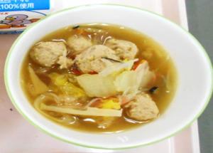 肉団子と白菜のスープ